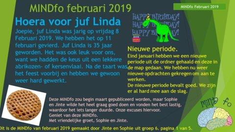 MINDfo februari 2019 groep 6 Jinte en Sophie LvM 1